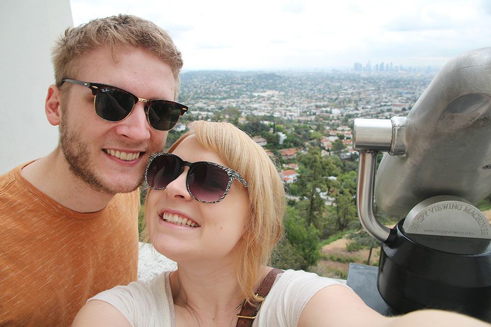 Rob and Ash in LA