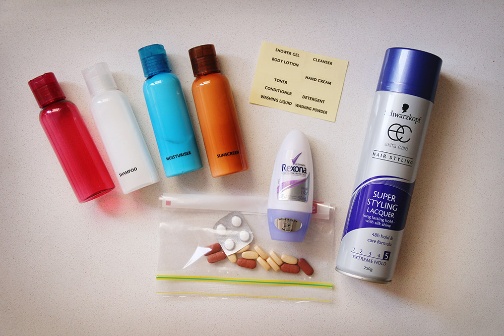 Packing lightly toiletries