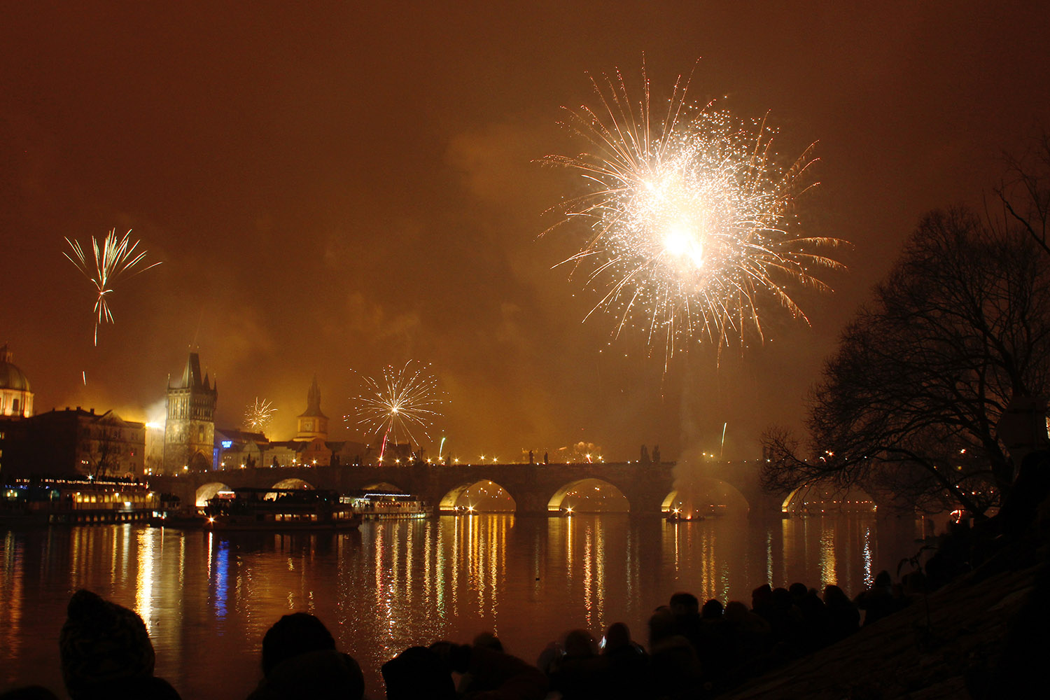 New Year in Prague, Czech Republic