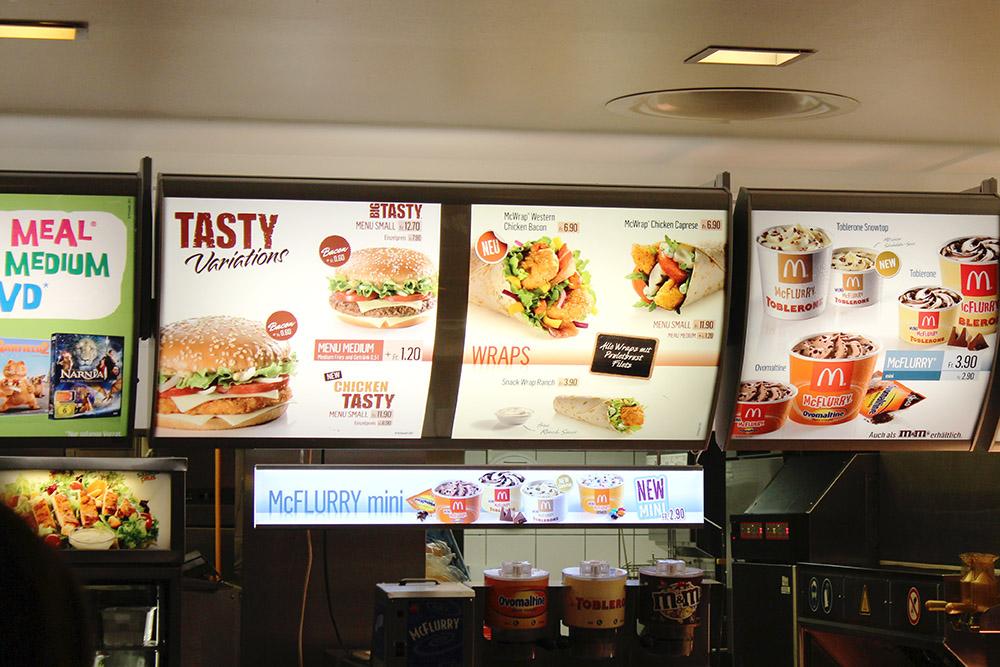 McDonalds in Zurich, Switzerland
