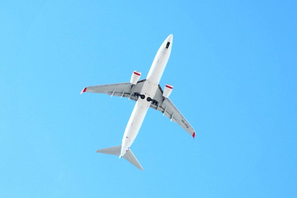 Aeroplane flying overhead