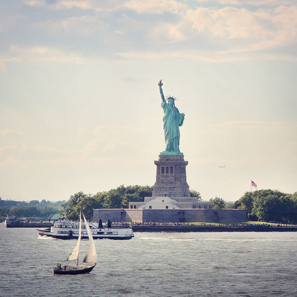 Statue of Liberty from the Staten Island Ferry, NYC