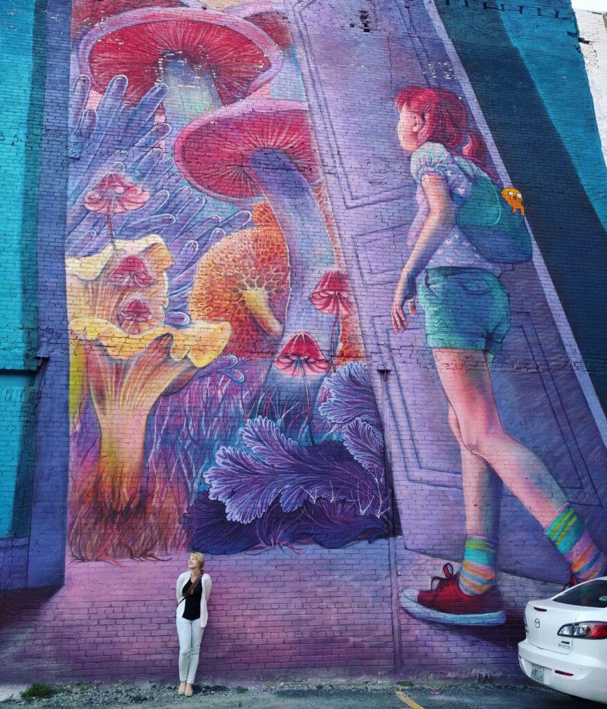 Providence mural, Rhode Island, USA