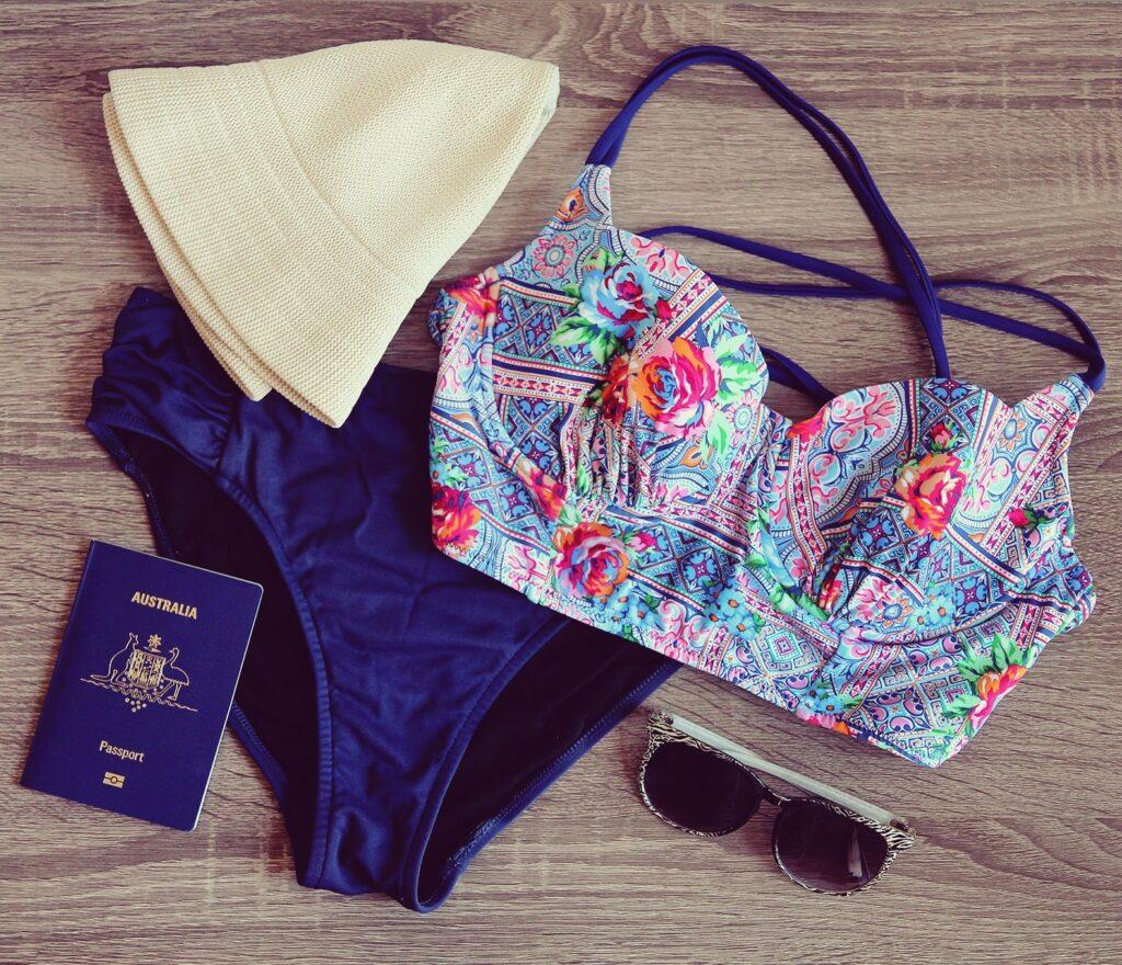 Swimwear flatlay