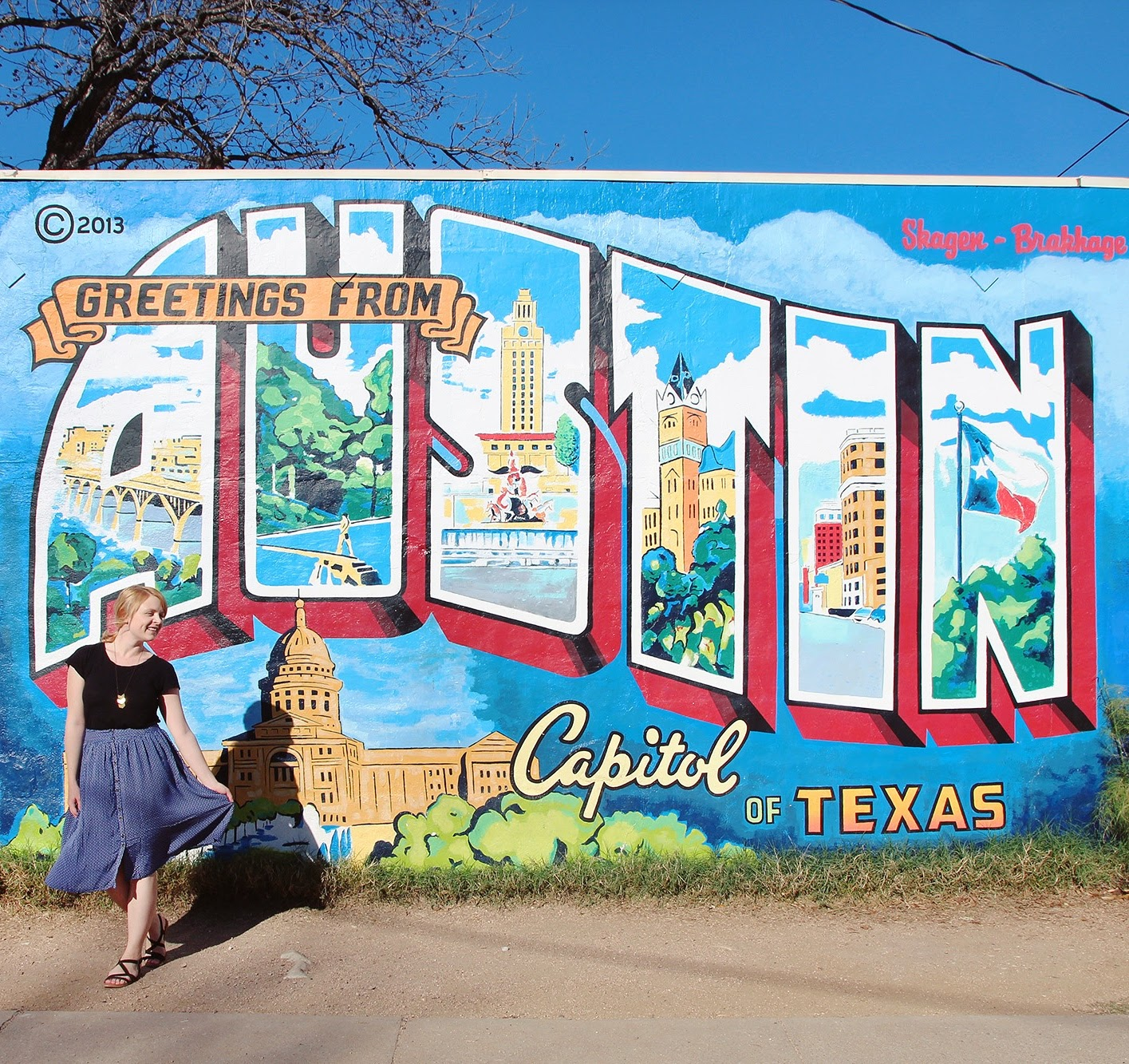 Greetings from Austin mural