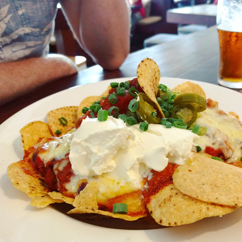 Veggie Nachos, Pub Food