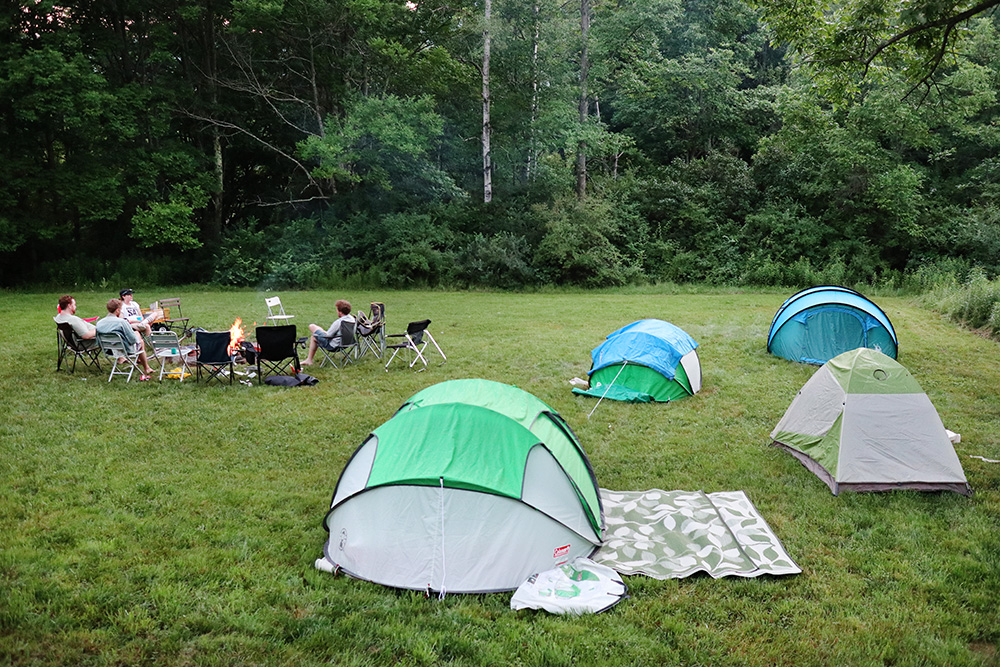 Camping in the Catskills, New York