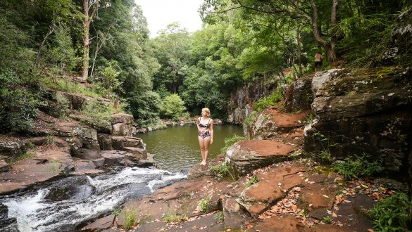 Secluded swimming hole in northern New South Wales, Australia