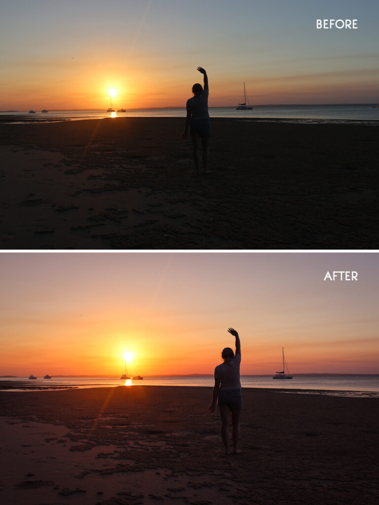 Lightroom edits before and after