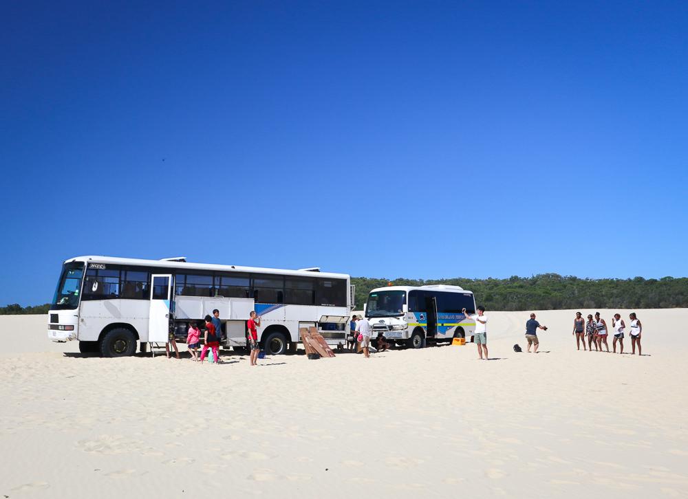 Moreton Island sand boarding
