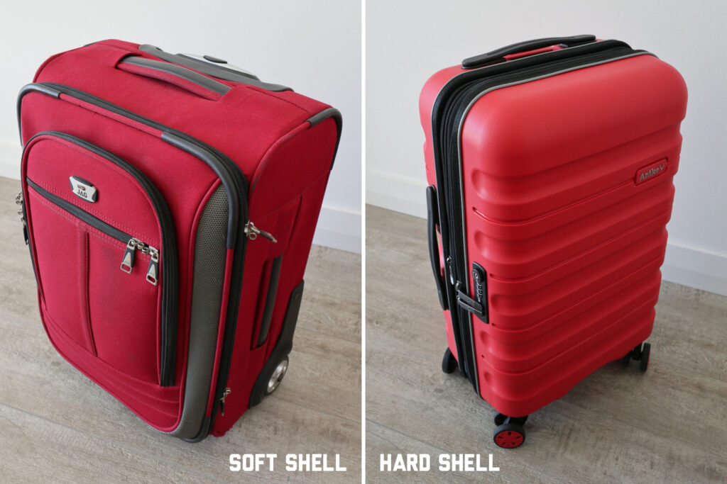 Soft shell vs hard shell suitcase comparison