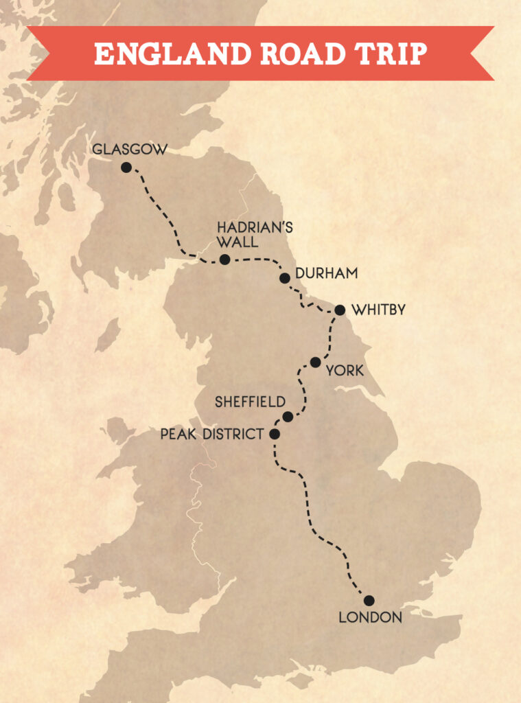 English countryside road trip: London to Glasgow in 3 days