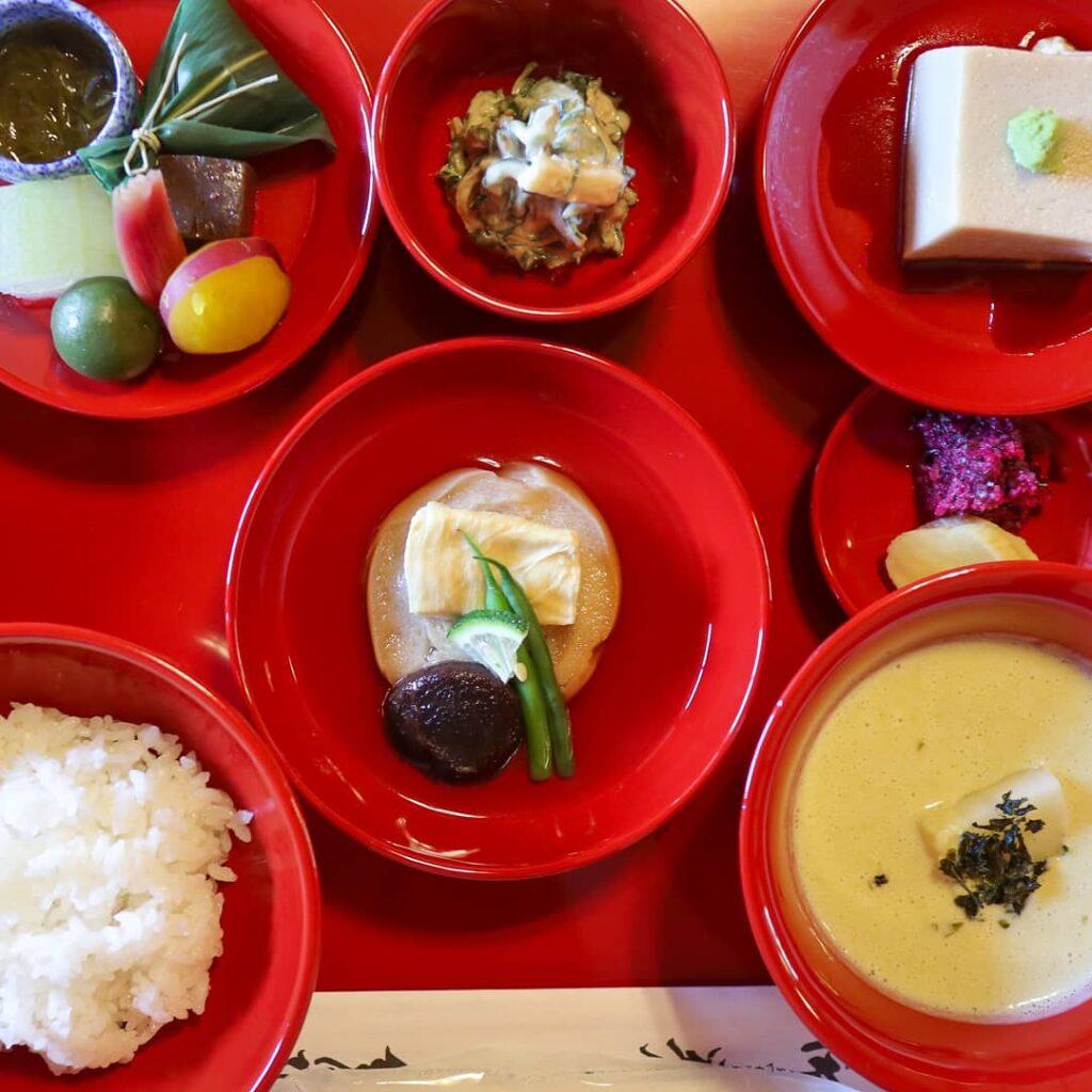 Shojin Ryori Buddhist vegetarian cuisine, Kyoto, Japan