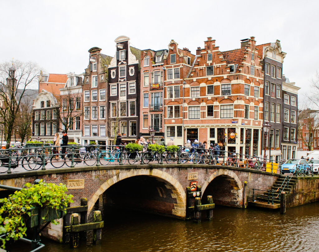 Amsterdam bridges and canals