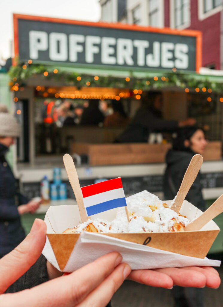 Poffertjes pancakes at Martin's Bridge in Utrecht