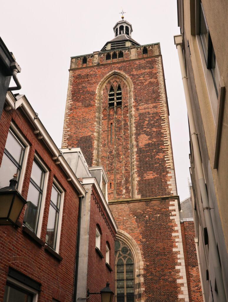 The bell tower of Buurkerk (Neighbour Church) in Utrecht