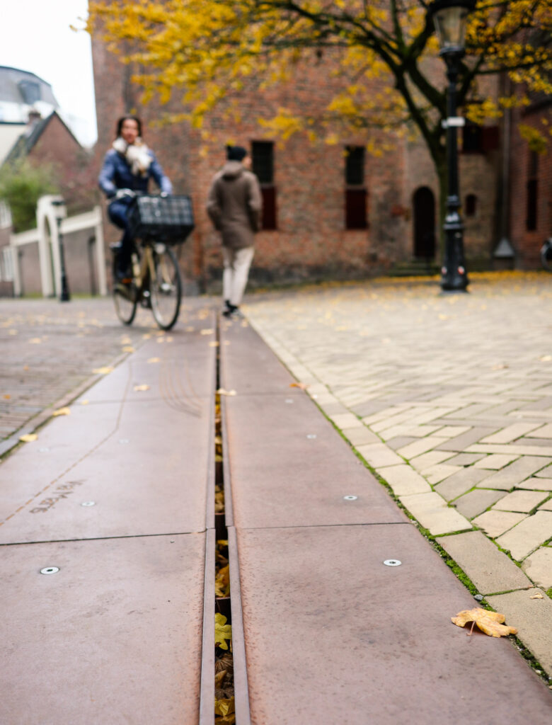 Roman fortress border in the streets of Utrecht