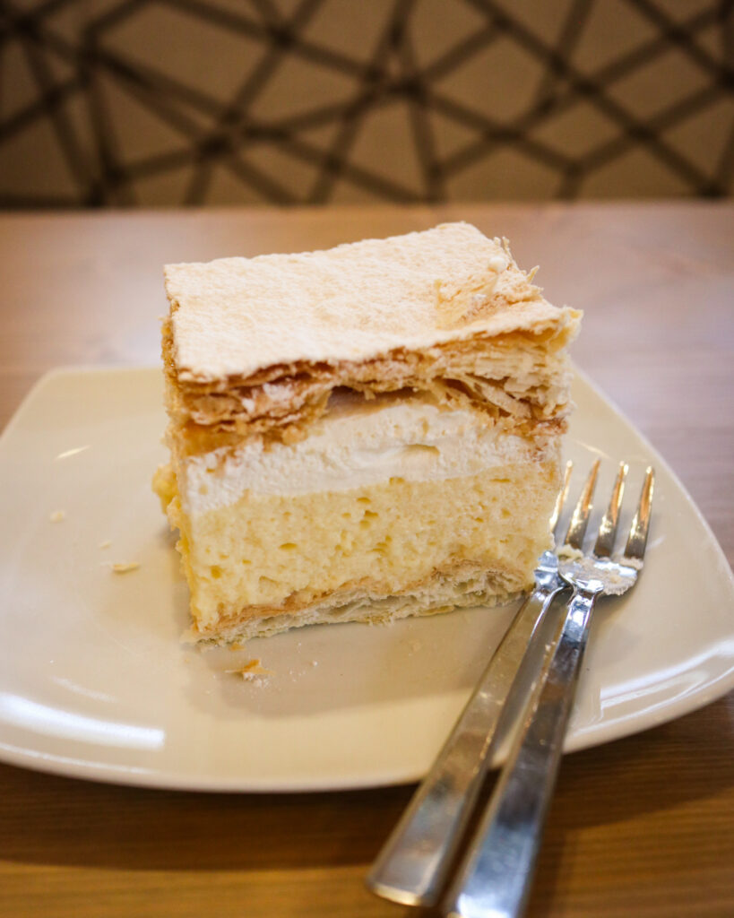 Bled Cream Cake from Confectionery Zima in Bled, Slovenia