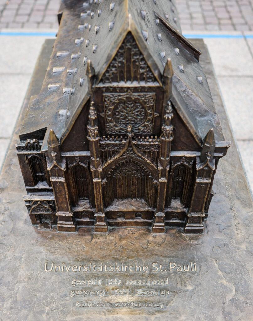 Memorial of the original Universitätskirche St. Pauli in Leipzig