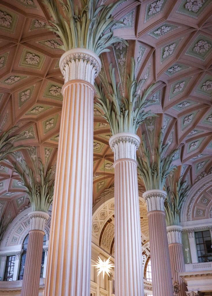 Columns inside of St Nicholas Church in Leipzig