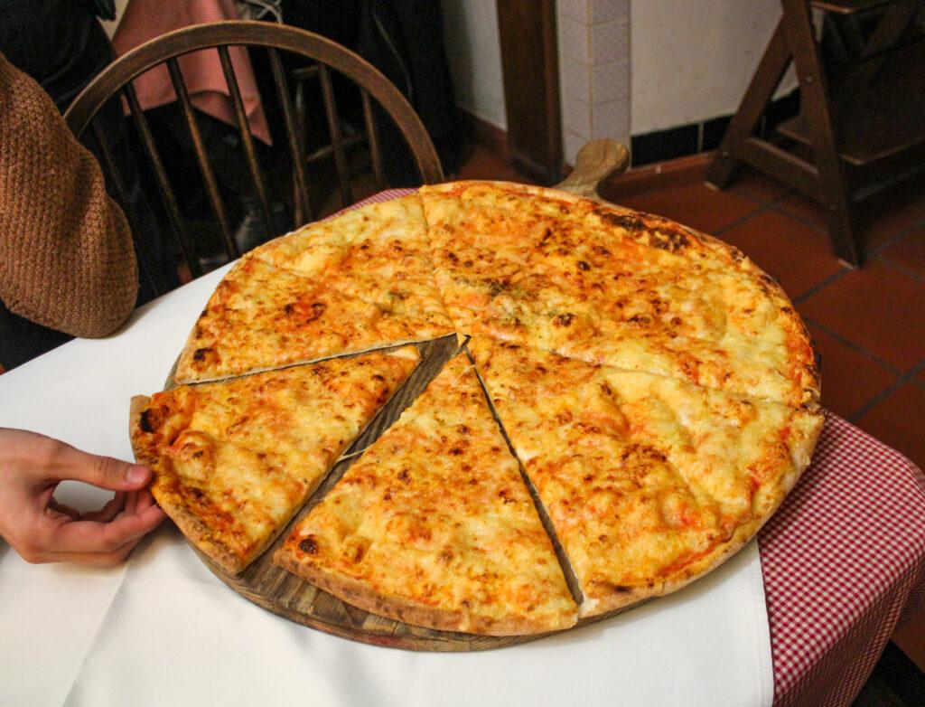 Large pizza from Ljubljanski dvor in Ljubljana, Slovenia