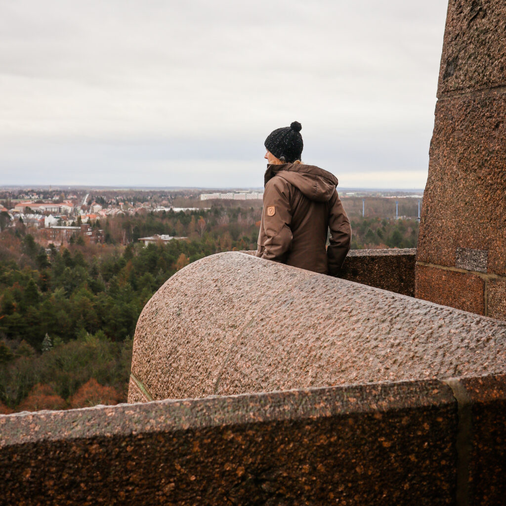Looking out from the viewing platform at Völkerschlachtdenkmal (Monument to the Battle of the Nations) in Leipzig