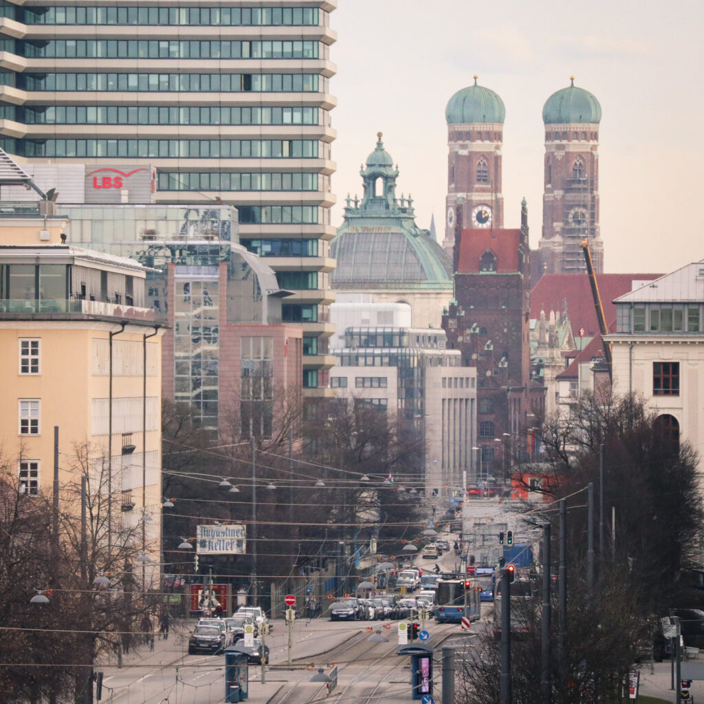 Views of Arnulfstrasse in Munich, Germany